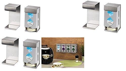 Xavax TASSIMO WANDHALTERUNG FÜR 6 Karton Sechs Wandhalterungen für jeweils eine Tassimo-Original-Verpackungen •Platzsparend •Einfache Montage •Beliebig Erweiterbar •Hochwertiges Metall T-disc Carousel