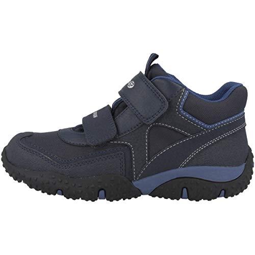 Geox Bambino Alto Baltic Boy WPF, Ragazzo Sneaker,Scarpe Sportive,Scarpa Sportiva,Stivaletto da Ginnastica,Mid-Cut,Traspirante,Navy/Avio,33 EU / 1 UK