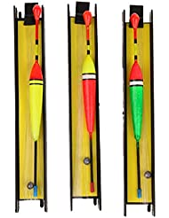 MagiDeal 3pcs/Kit Flotteur de Pêche Buoy Vertical Mousse Métal pour Eau Douce Eea de Mer avec Tackle Crochet 5 # 7 # 9 #