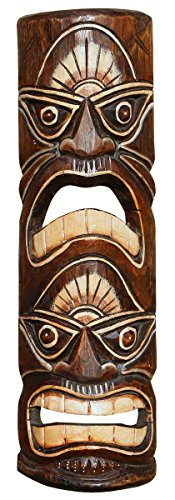 Schöne 50 cm Tiki Holz Maske Neuseeland Maori Wandmaske Handarbeit Bali Maske66
