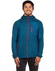 O 'Neill Chaqueta de forro polar Función Jack pista Sudadera con capucha azul bolsillo en el pecho Zipper, color azul, tamaño medium