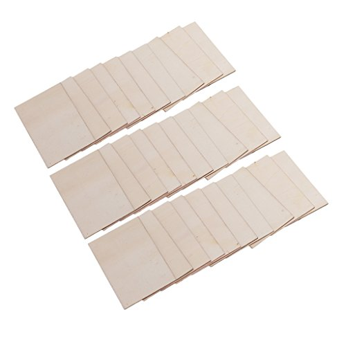 Homyl commercio all'ingrosso 30 pezzi schede vuote compensato fogli per artigianato, modelli e pirografia legno targa segno fai da te materiali per il legno 70x49m