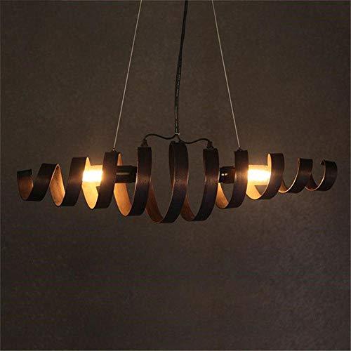 Lustre rétro industriel Café lampe suspension antique en fer forgé restaurant personnalisé lustres suspension printemps restaurant (longueur 70cm, hauteur 18cm)