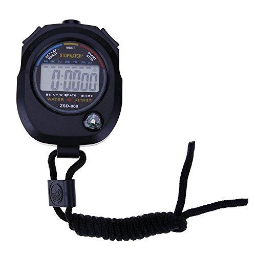 Broadroot Wasserdichte LCD Digital Stoppuhr Timer Chronograph Counter Sport Alarm
