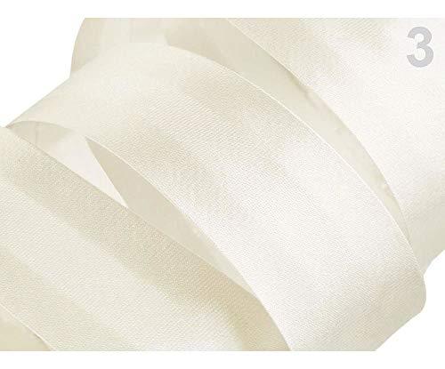 20m 3 Cloud Cream Satin Schrägband Breite 30mm Gefalzt Ausgemessen, Schrägbänder, Kurzwaren -
