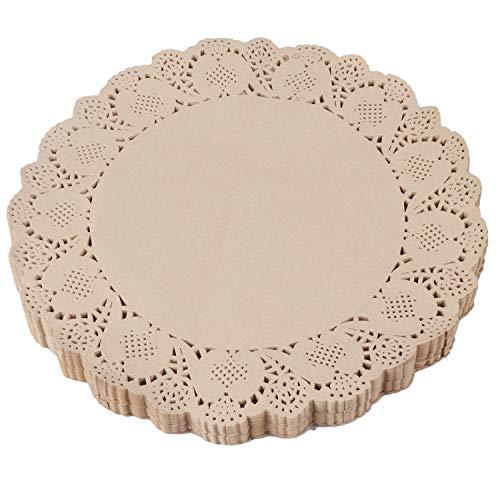 Papier Tortenspitzen (250 Stk) - D 30,48 cm Runde Zierdeckchen Tortenpapier Tortenspitze Deckchen für Kuchen, Kuchenplatte, Desserts, Tortenunterlage, Ideal für Hochzeit, Party Dekoration, Tischdeko