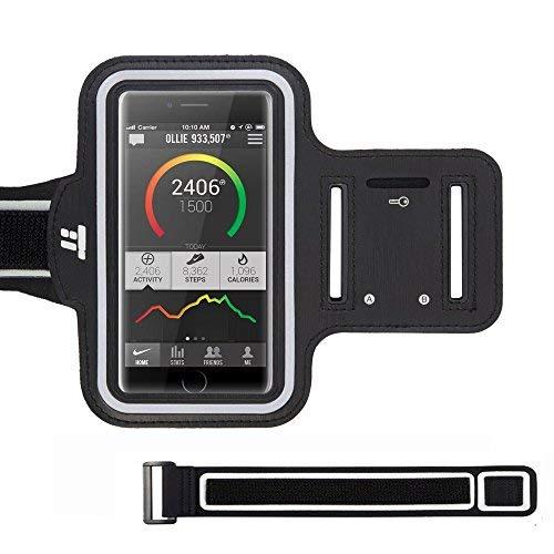 Fascia Sportiva da Braccio TaoTronics Sweatproof Resistente all'Acqua con Cuffie Slot, Supporto Carte, Tasca per le Chiavi per iPhone 6 / 6S, Galaxy S6 / S7 / S5 - Per Corsa, Ciclismo, Passeggiate