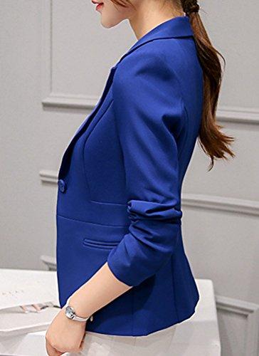 YiLianDa Donna Ufficio Casuale Tailleur Elegante Corto Blazer Carriera Tailleur Giacca Sapp