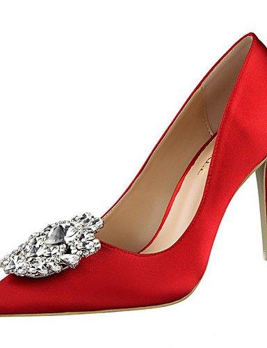 WSS 2016 Chaussures Femme-Extérieure / Habillé-Noir / Vert / Rose / Argent / Gris / Or-Talon Aiguille-Talons / Bout Pointu-Talons-Soie golden-us6.5-7 / eu37 / uk4.5-5 / cn37