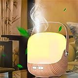 Difusor de aceites esenciales, Difusor de aromaterapia 250ml Humidificadores de aroma ultrasónicos con modo de niebla ajustable, 7 luces LED de colores, Sin agua Apagado automático, yoga, hogar, spa