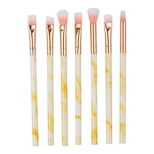Pinceaux Maquillages Professionnels Kit De 8Pcs, Poils SynthéTiques Vegan, Produits Toute Consistance (Poudres, CrèMes, Liquides) Hiroo (Jaune)