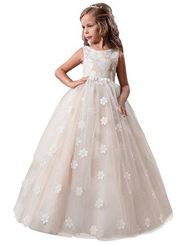 Ballkleid Tulle Prinzessin Hochzeit Partei-Abschlussball-Kleid-Größe (170) 13-14 Jahre Gelb ()