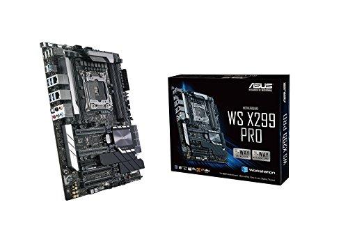kstation Mainboard Sockel 2066 (ATX, Intel X299, Skylake, 8x DDR4-Speicher, 4x PCIe 3.0 x16, 1x U.2 und 2x M.2 Schnittstelle) ()