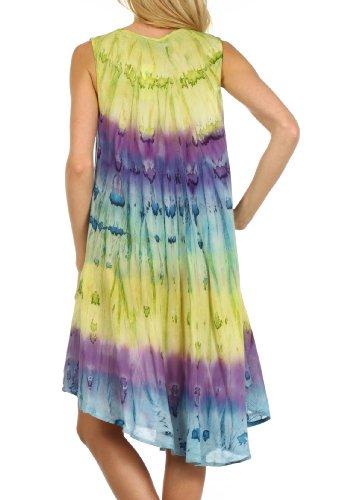 Sakkas Wüstensonne Kaftan Kleid oder Vertuschung für Damen Grün / Lila