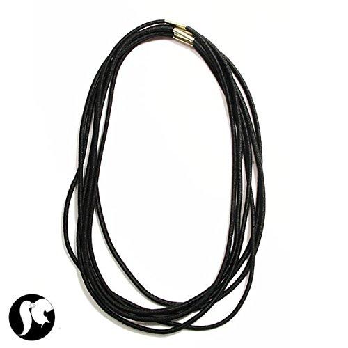 lot-de-6-bandeaux-en-lycra-elastique-noir-fin-accessoire-cheveux-femme