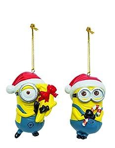 Joy Toy 91142Minions Despicable Me 2árbol de Navidad Dave y Carl Blow Molde de Adornos de Navidad