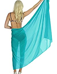 Bathing Suit Swimsuit Sheer Chiffon Plus Size Hawaiian Swim Beach Sarong Ladies Cover up Skirt