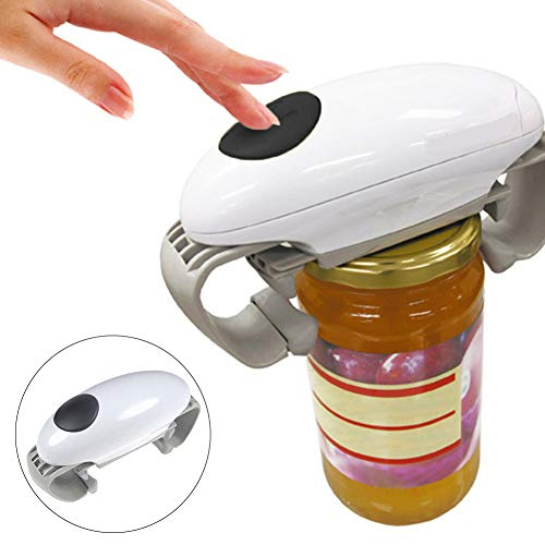 Dyda6 Abridor eléctrico de latas, abrelatas automático con un botón, práctico abrelatas...