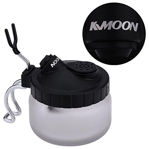 KKmoon Professional Airbrush Reiniger Reinigung Flasche Reinigen Kanne Cleaning Pot mit Luftbürstenhalter für Maniküre Tätowierung Malerei -