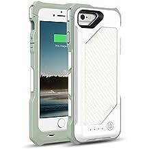 [Apple MFi Zertifiziert] MoKo 3500mAh Power Bank Akku Hülle Aufladbare Externe Batterie Ladehülle Backup Accu Charging Smart Battery Case Cover für Smartphone Apple iPhone 6 4.7 Zoll, Weiß