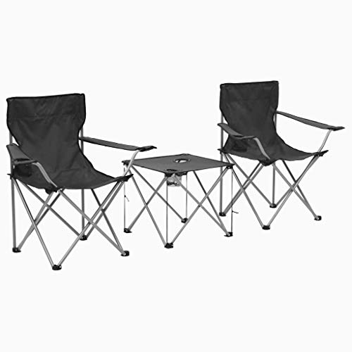 Picknick-Tabellen, Die Falten, Beweglichen Kampierenden Tisch Mit 4 Stühlen Für Eine BBQ-Picknick-Partei Falten oO (Color : Grey) -