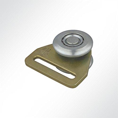 rungsrollen Laufwagen Rollenlaufwerk mit Schlitz und Kugellager 210 Kg (10 Stück) (Ladefläche Schienen)