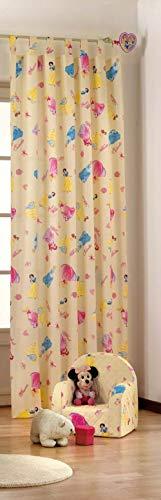 Tenda tende arredo cameretta disney principesse cotone 140x290 cm id971 d971