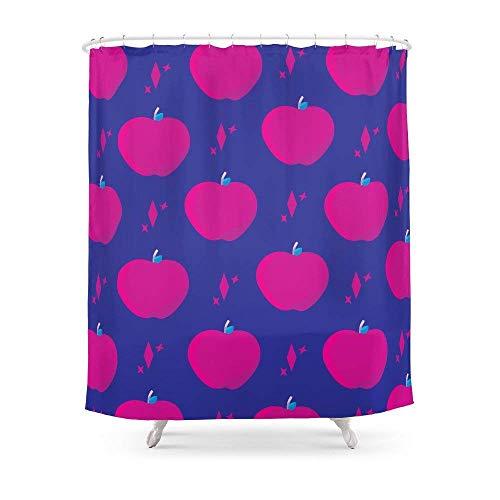 Suminla-Home Badezimmer Äpfel in Magenta Vorhang für die Dusche 182,9cm von 182,9cm