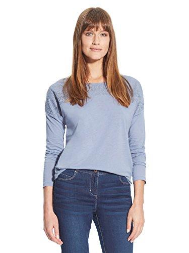 Balsamik - Maglietta con guipure - donna - Size : 46/48 - Colour : Blu
