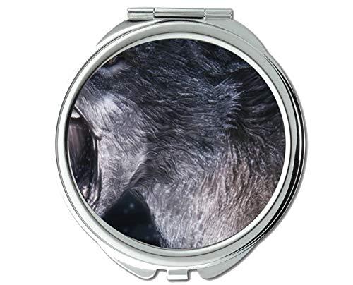 Specchio, specchietto piccolo, specchietto lupo Animal, 1 ingrandimento X 2X