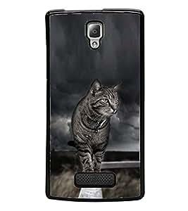 YuBingo Lenovo A2010 2D Designer Phone Back Case Cover ( The Mean Cat )