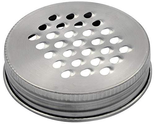 Mason Jar Lifestyle Reibe/Zerkleinerer Deckel Regular Mouth silber Mason Quart Jar