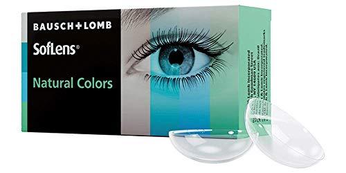 SofLens Natural Colors Monatslinsen weich, 2 Stück / BC 8.7 mm / DIA 14.0 mm / -00.00 Dioptrien, topaz