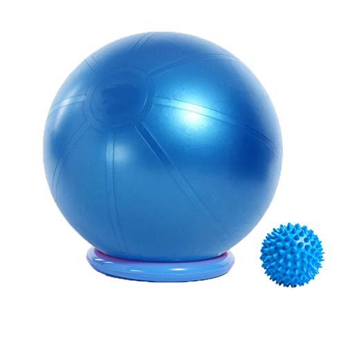 YxlAB Yoga Ball, Explosionssichere Schwangere Frauen Lieferung Sport Ball Stuhl 65CM/75CM/85CM Gewichtsverlust Fitness Ball (Farbe : Blau, größe : 85CM)