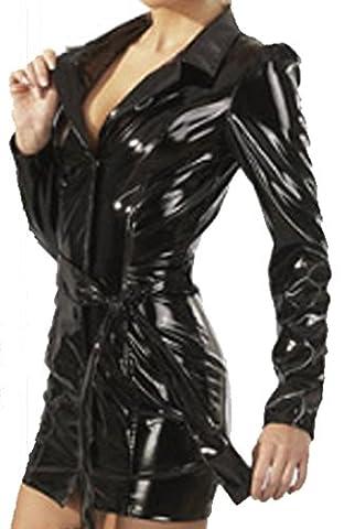 jäckchen élégant et miniklei dchen dans un en vernis s-XXL Black Level Noir - noir - Taille XXL