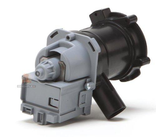 DREHFLEX® - Laugenpumpe / Pumpe für diverse Waschmaschinen von Bosch / Siemens / Constructa - passend für Teile-Nr. 00145787 / 145787 / 00144978 / 144978 / 00144484 / 144484 / 00141874 / 141874 / 141896 / 142370 / 143995 / 144305 etc.