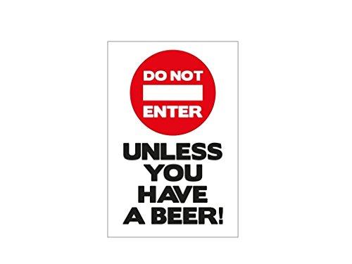 pegatina-de-vinilo-do-not-enter-unless-you-have-a-beer