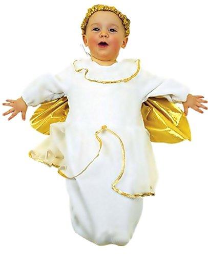 0-9 Monate - Kostüm - Verkleidung - Karneval - Halloween - Engel Engel - Farbe Weiß - Unisex - Kinder Babys