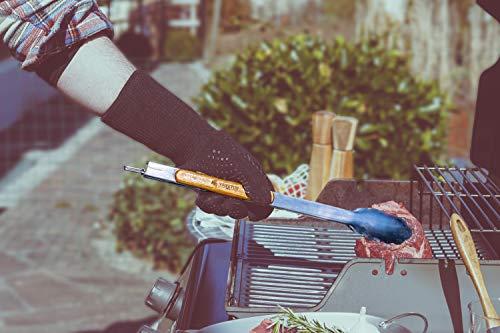 41CFlUnjeiL - VENETUS-BBQ Grillbesteck extra lang aus edlem Akazienholz | Premium Grillzubehör 3 teilig: Grillzange, Grillwender und Grillpinsel | Ideales Grill-Geschenk für Männer