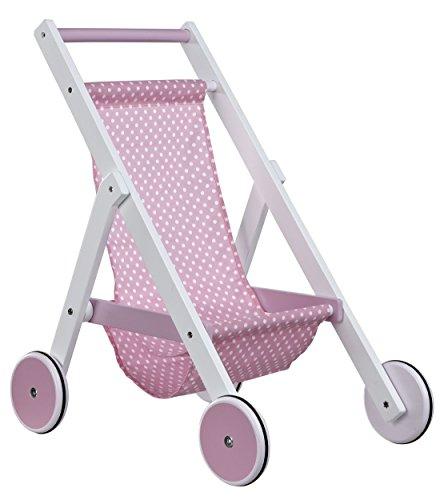 Preisvergleich Produktbild Kids Concept- Holzspielzeug Puppenbuggy Star, 44x33x52cm, Weiß Rosa
