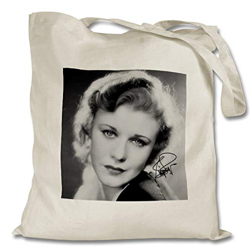 Star Prints UK Ginger Rogers 2 Personalised Printed Tote Bag - Shopping - Shoulder - Tote Bag - Autographed Print (No Personalised Message)