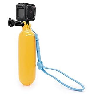 MyGadget Schwimmender Action Cam Handler Stick für z.B. GoPro Hero 6 5 4 3+ 3 - Handstativ Schwimmer Zubehör Floating Sport Handgriff + Griff Schlaufe
