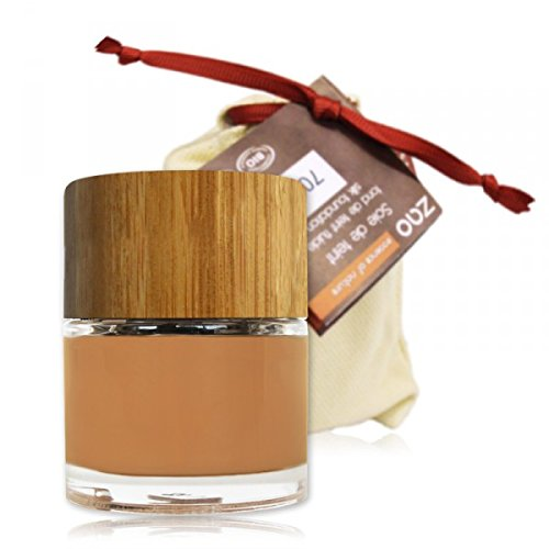 Zao Organic Makeup - base líquida Silk albaricoque 702-1 oz.