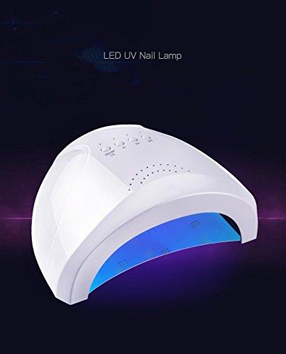 Weißer intelligenter schnell trocknender doppelter Lichtnagelminilichttherapiemaschinentrockner Nagellackkleber-Backenlicht führte Licht sensor- 48w Nagel-Lichtwerkzeuge