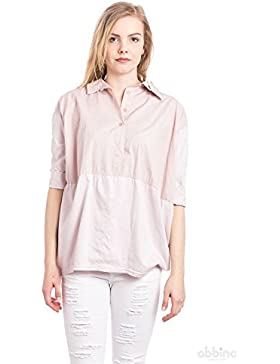 [Patrocinado]Abbino 88634 Blusas Tops Para Mujer - Hecho EN Italia - 5 Colores - Entretiempo Primavera Verano Otoño Mujeres...