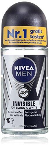 Nivea Men Invisible for Black und White Power Deo, Antitranspirant, 1er Pack (2 x 50 ml)