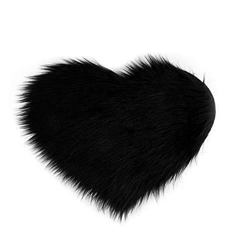 Vanpower Alfombra Pelo sintético Forma corazón Artificial