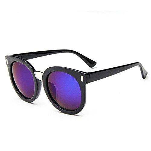 Z-P Unisex Classic Retro Fashion Round Frame Color Film Round Lens Reflective UV400 Sunglasses 61MM