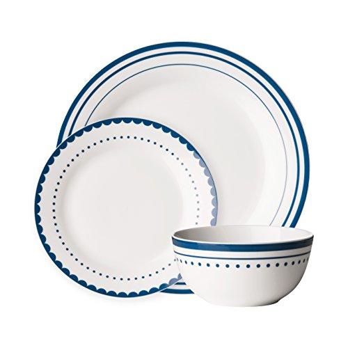 Avie Saturn Tafelservice Set–Blau White Porcelain Side Plate