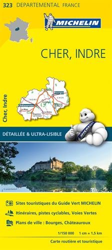 Carte Cher, Indre Michelin